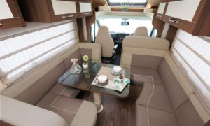 motor home dinning area